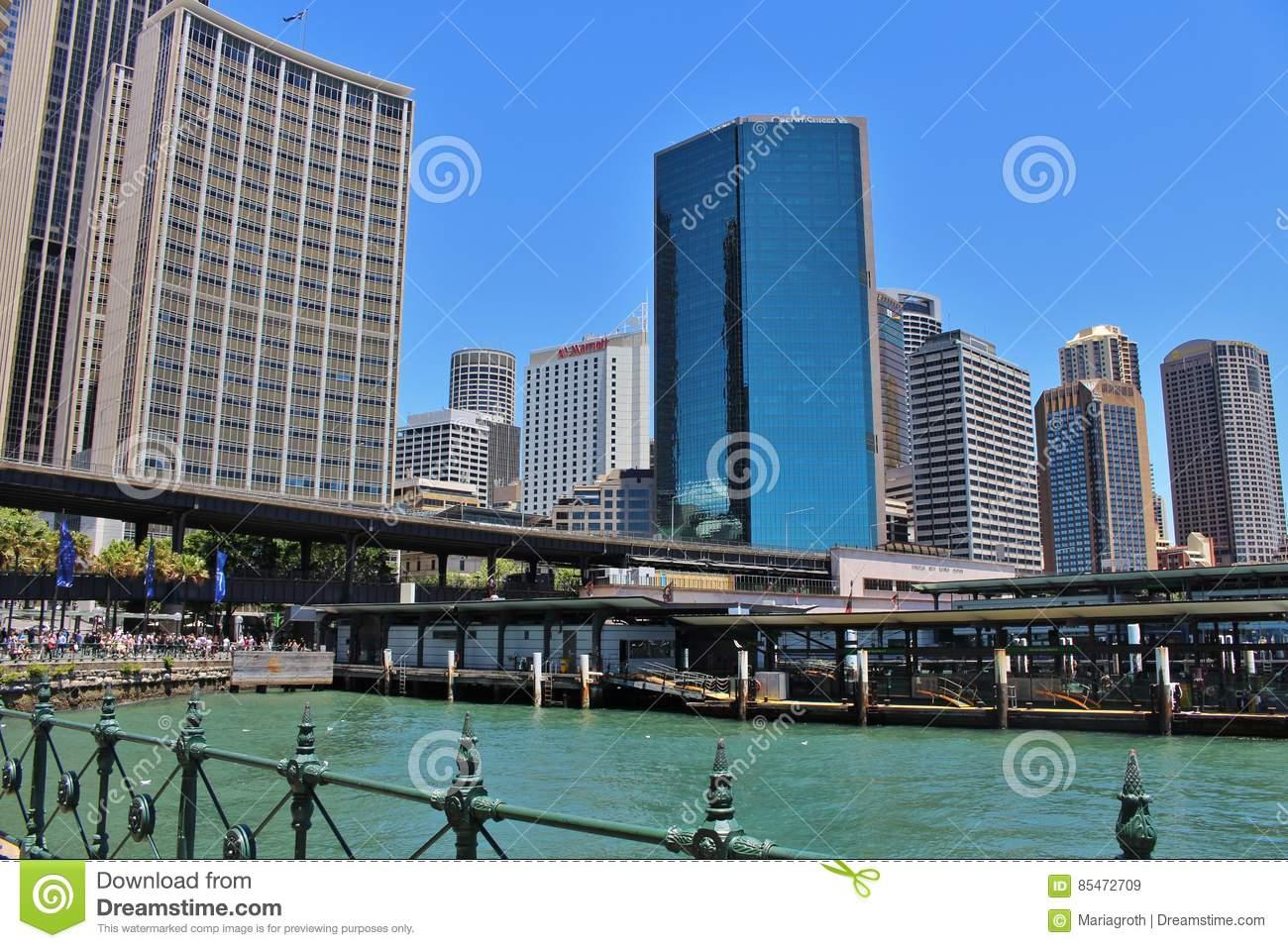 Circular Quay, Sydney, Australia Editorial Stock Image.