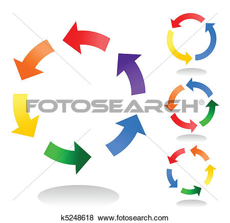 Clip Art of Icons of circulation of substances in the nature. A.