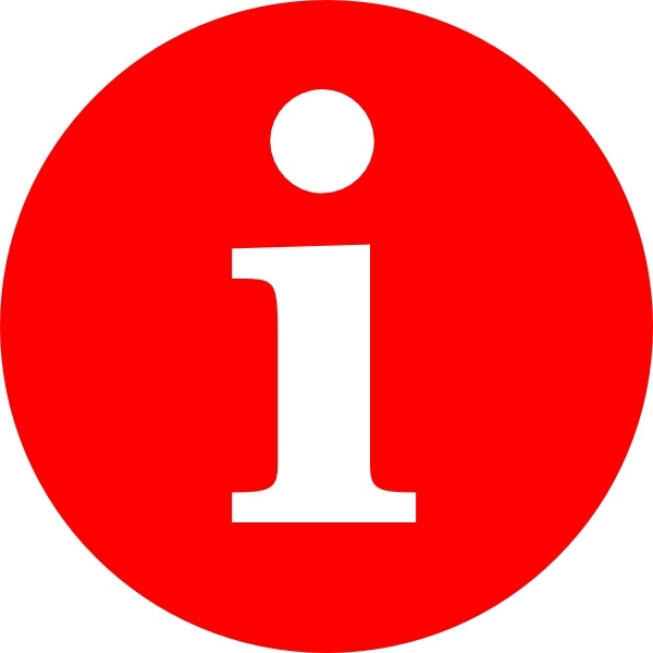 Letter I In A Red Circle clip art Free vector in Open office.