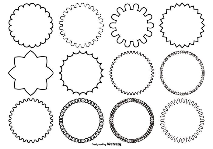 Assorted Circle Vector Shapes.