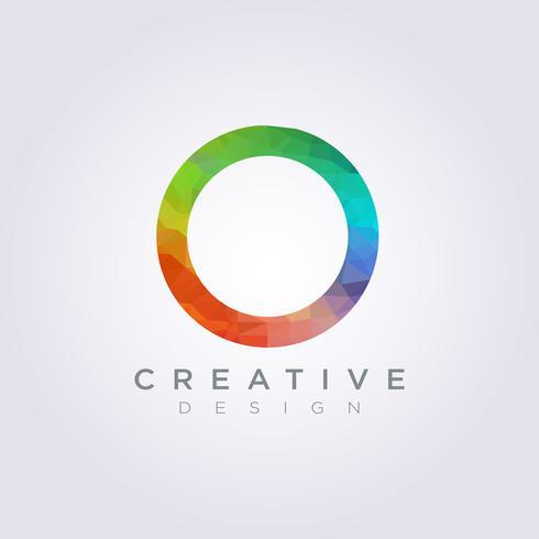 Circle Colourful Rainbow Vector Illustration Design Clipart.
