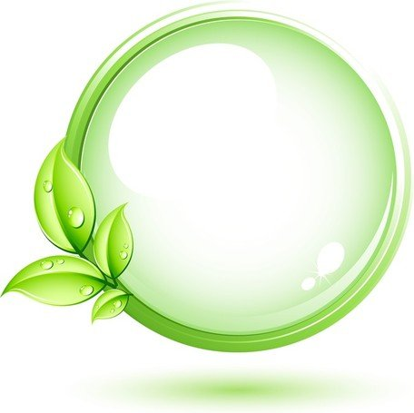 Green Plant And Circle Clipart Picture Free Download.