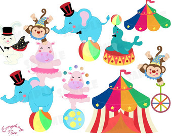 14+ Circus Animals Clipart.