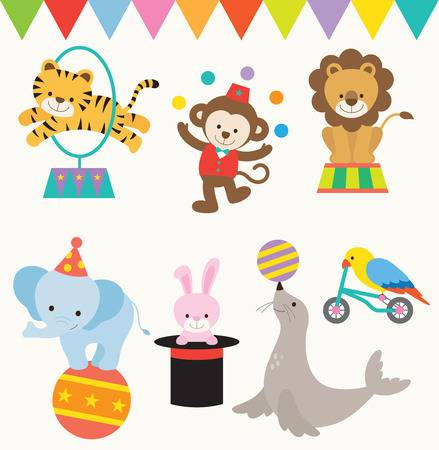 17,219 Circus Animals Stock Vector Illustration And Royalty Free.