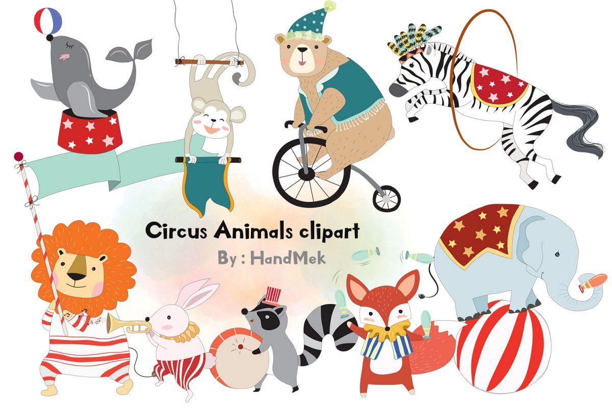 Circus Animals clipart.