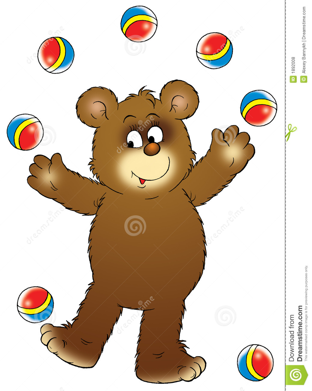 Circus Bear stock illustration. Illustration of graphic.