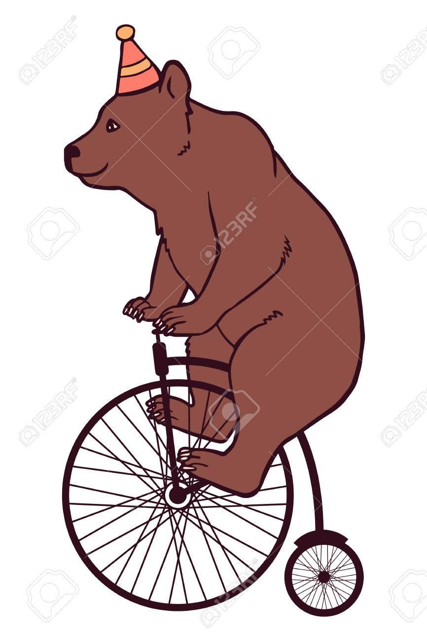 Circus illustration, bear.