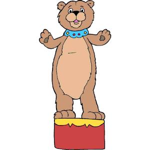 Circus Bear clipart, cliparts of Circus Bear free download (wmf, eps.