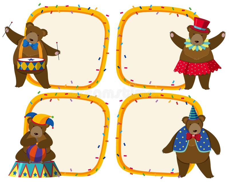 Border Circus Stock Illustrations.