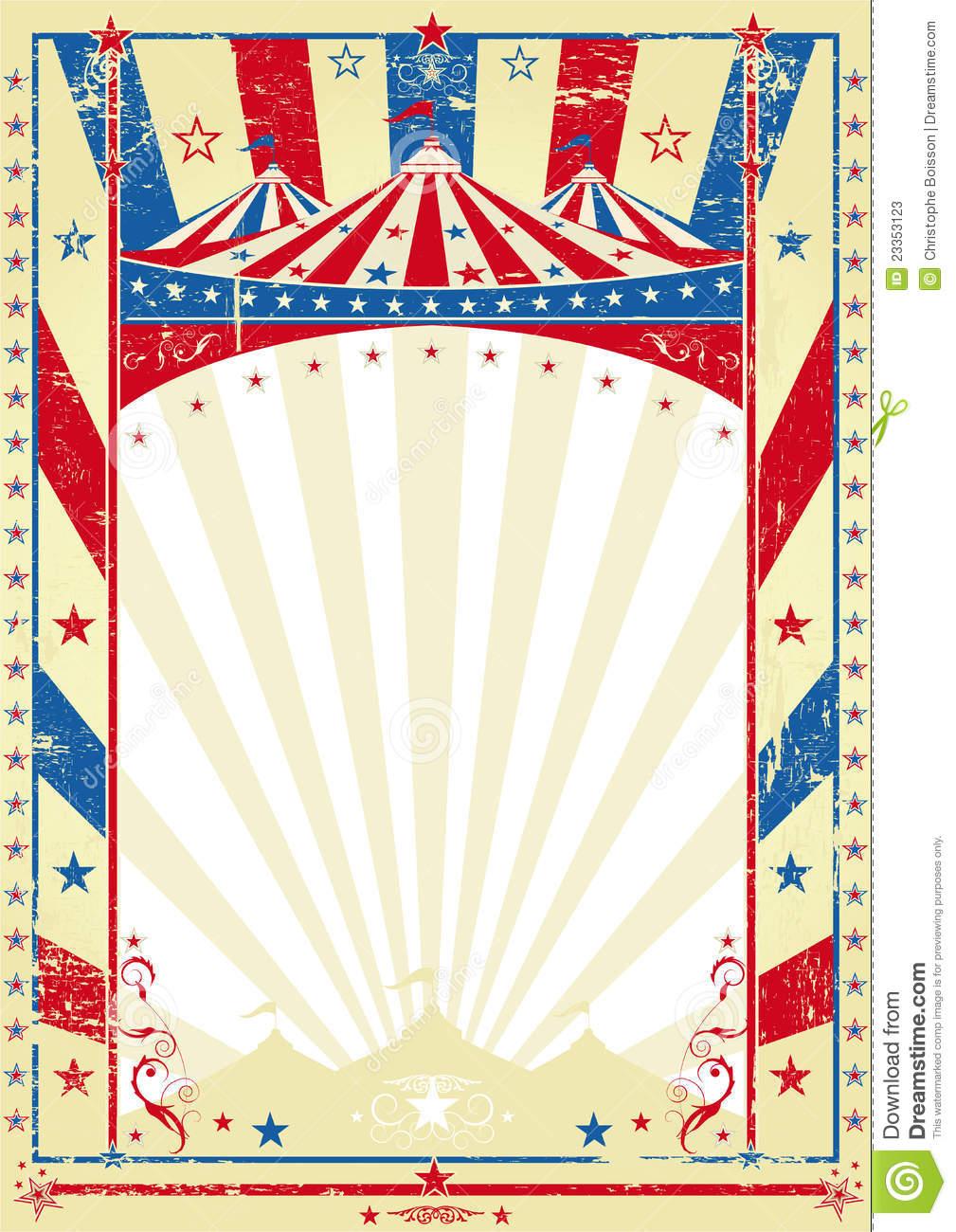 Circus Frame Clipart.