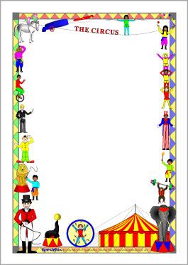 Free circus page border.