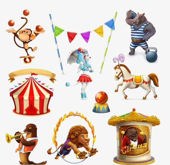 Circus Animal Pictures, Circus Clipart, Animal Clipart.