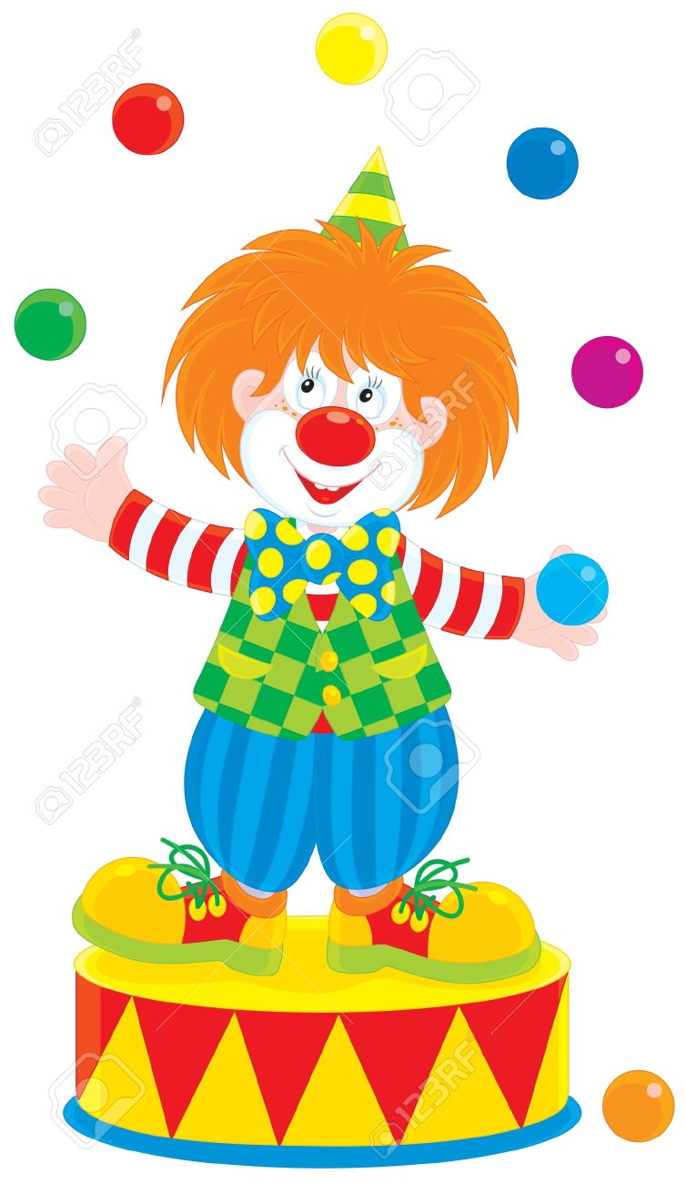 Circus Clown Juggler Royalty Free Cliparts, Vectors, And Stock.