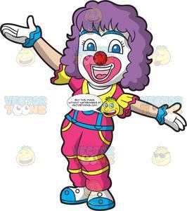 A Female Circus Clown.