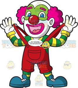 A Male Circus Clown.
