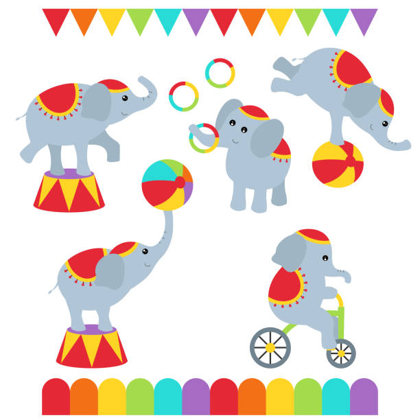 Best Circus Elephant Clip Art Illustrations, Royalty.