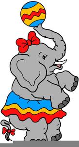 Free Circus Elephant Clipart.