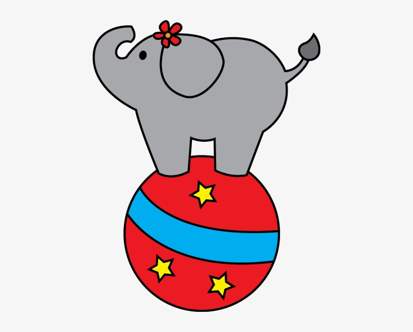 Circus Elephant Cliparts.