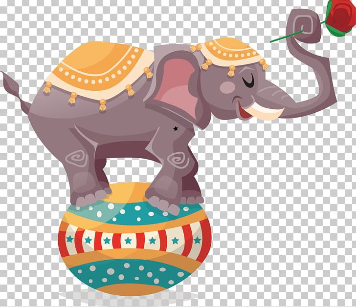 Circus Elephant Illustration PNG, Clipart, Animals, Baby Elephant.