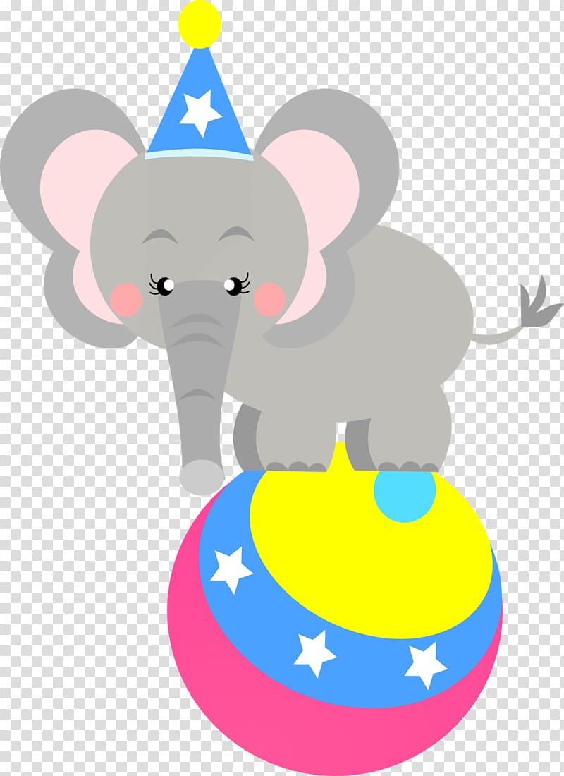 Circus Clown Elephant Party , Circus transparent background PNG.
