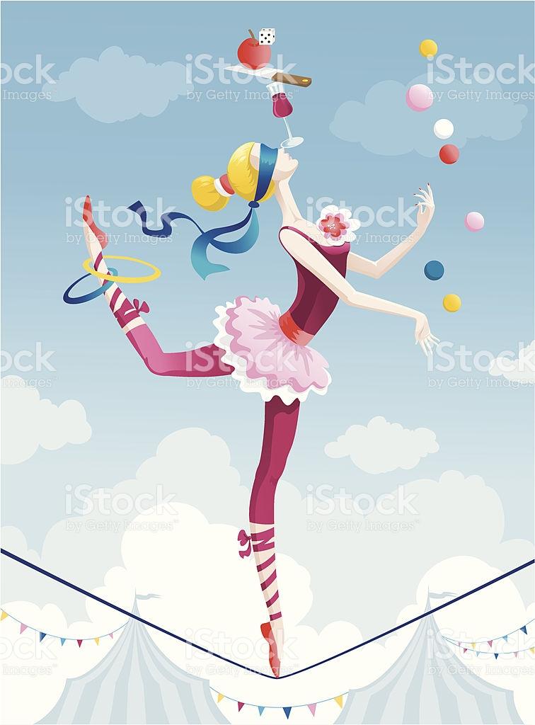 Circus Girl stock vector art 104785737.