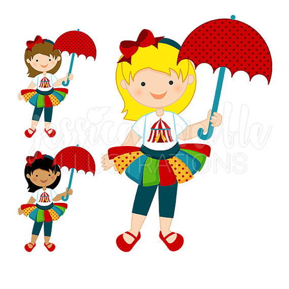 Circus Girl Clipart.