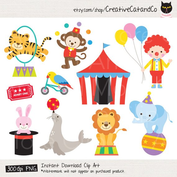 Circus animal clipart 2 » Clipart Station.