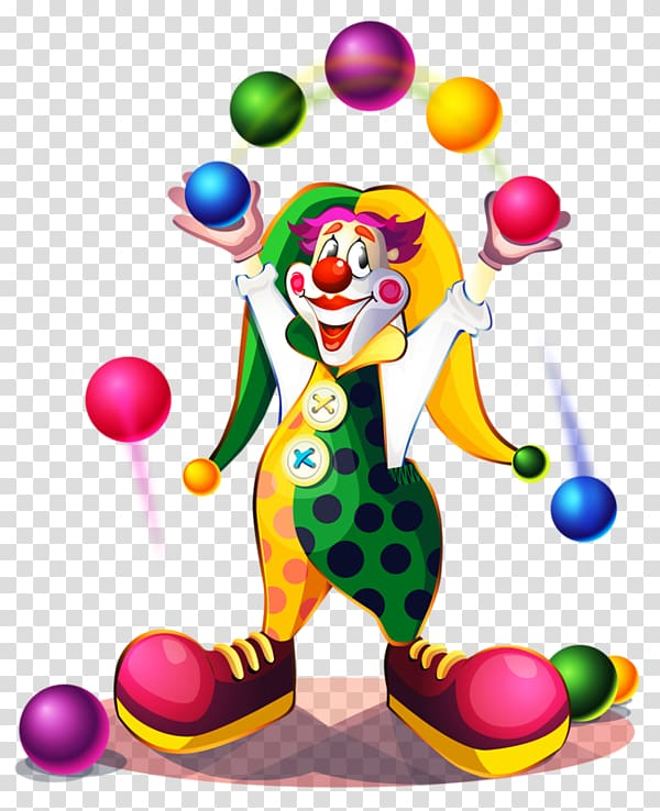 Clown Circus , Juggling transparent background PNG clipart.