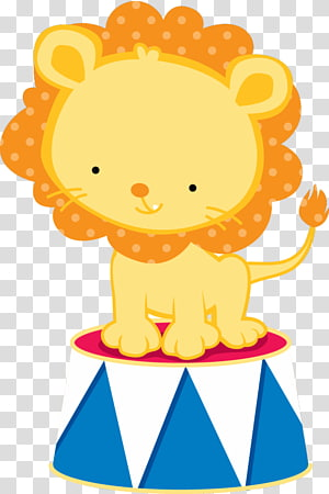 Circus Lion PNG clipart images free download.