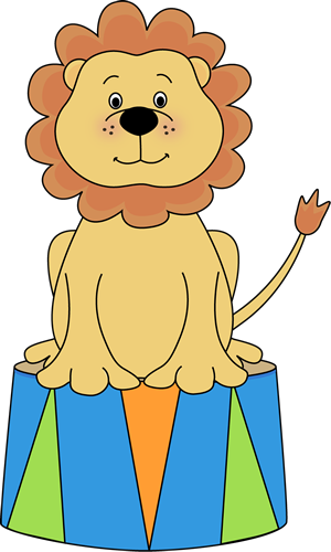 Circus Lion (free circus clip art).