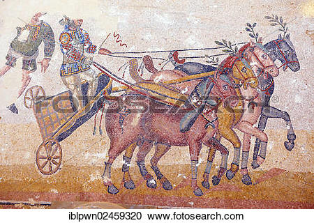 "Stock Photography of ""Circus Maximus, ancient Roman mosaics at the."
