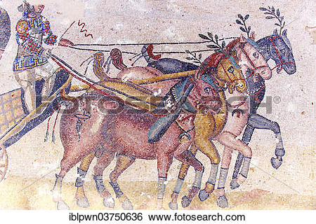 "Stock Images of ""Circus Maximus, ancient Roman mosaic, at the."