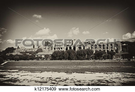 Stock Photograph of Circus Maximus: ancient Roman stadium, the.