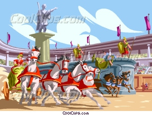 The Circus Maximus Chariot Vector Clip art.