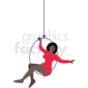 african american woman circus ring performer vector clipart . Royalty.