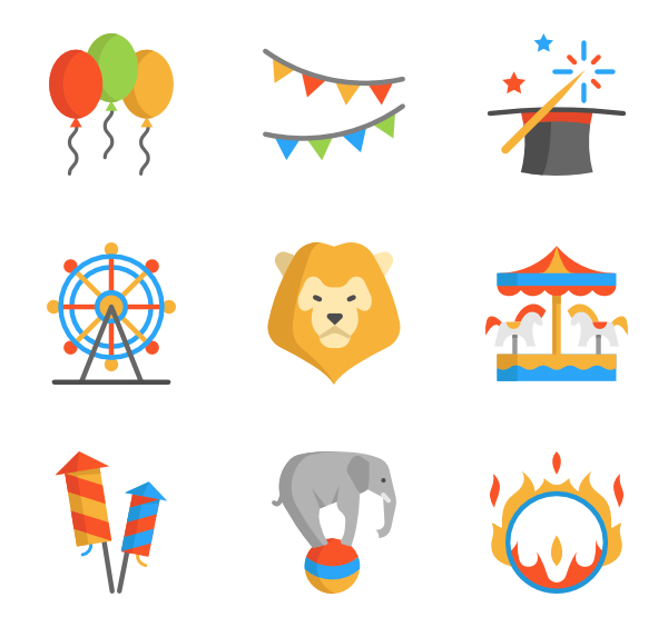 142 circus icon packs.