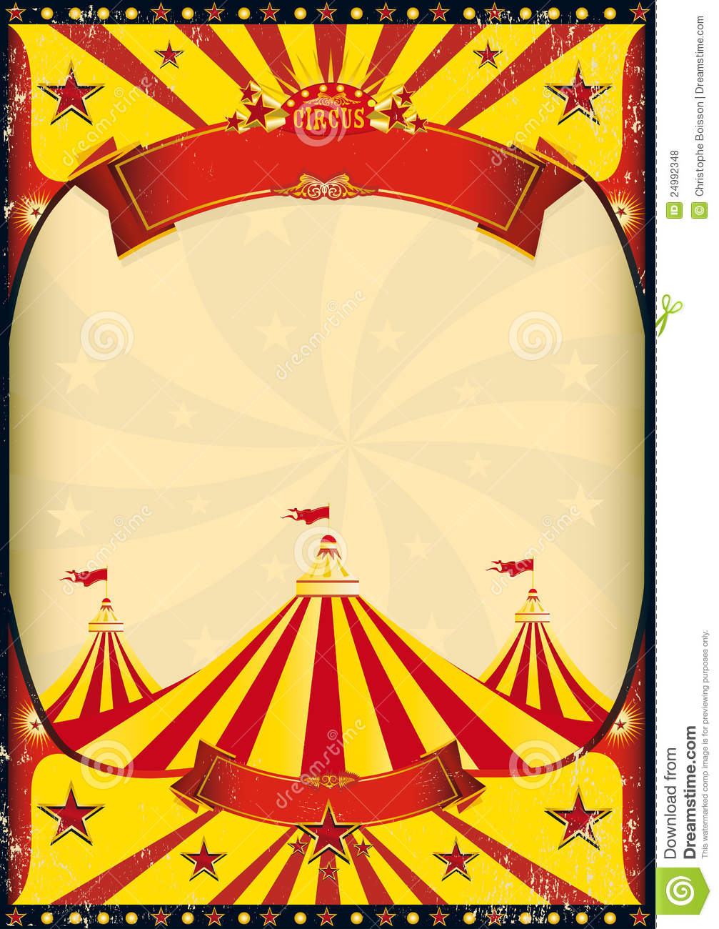Circus poster big top stock vector. Illustration of announcement.