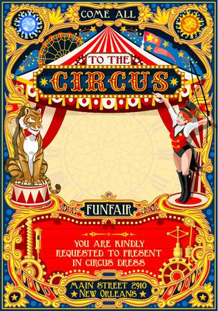 21,787 Vintage Circus Stock Illustrations, Cliparts And Royalty Free.