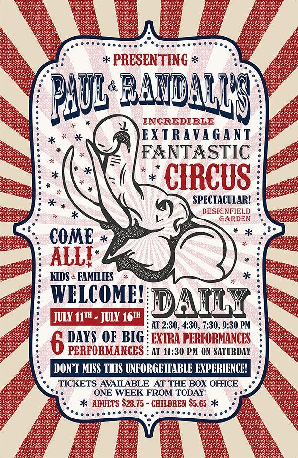 Vintage Circus Poster Design ….