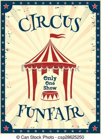 Vintage circus poster..