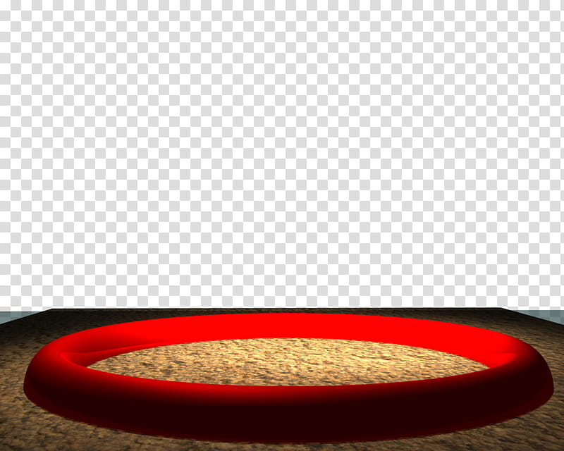 Circus Ring, round red plastic frame transparent background.