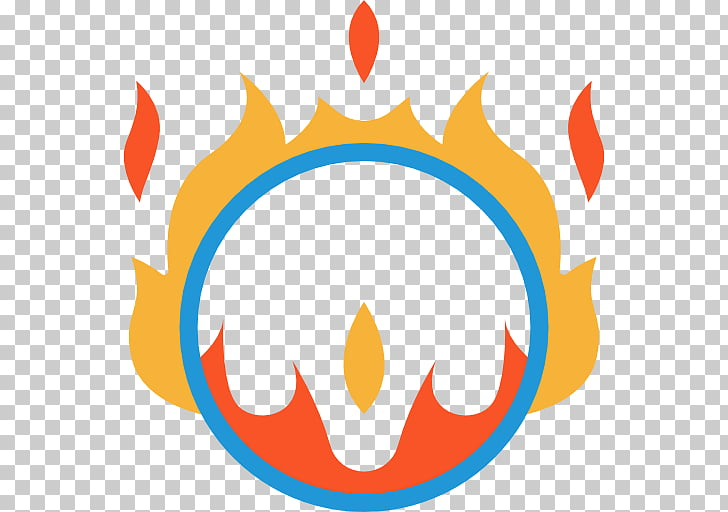 Circus Ring of Fire Icon, flame PNG clipart.