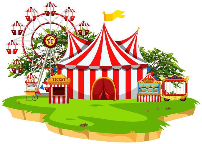 Carnival fun fair scene.
