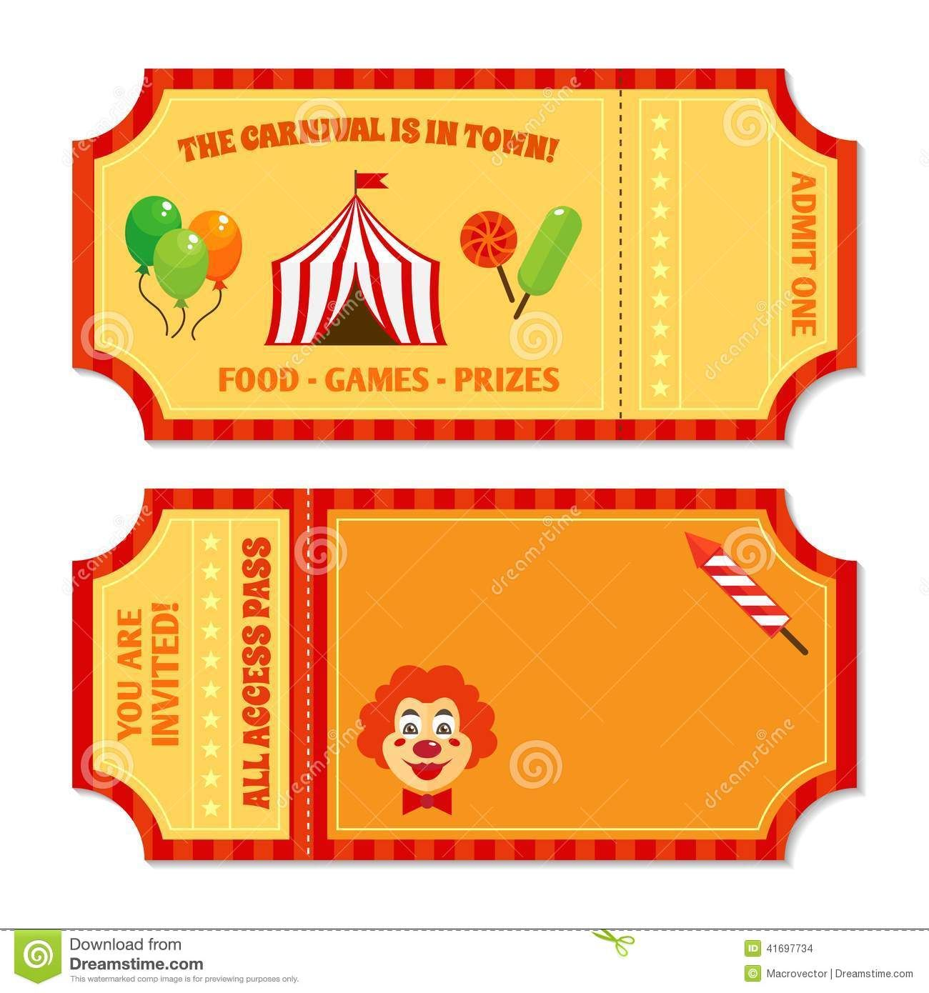 Images For > Carnival Ticket Clip Art.
