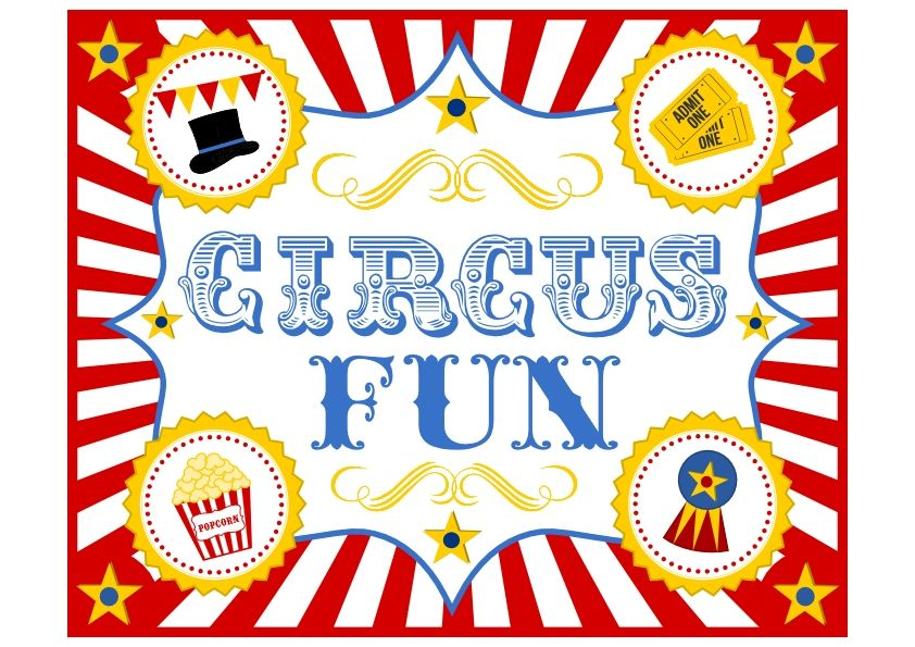 FREE Circus Birthday Party Printables from Printabelle.