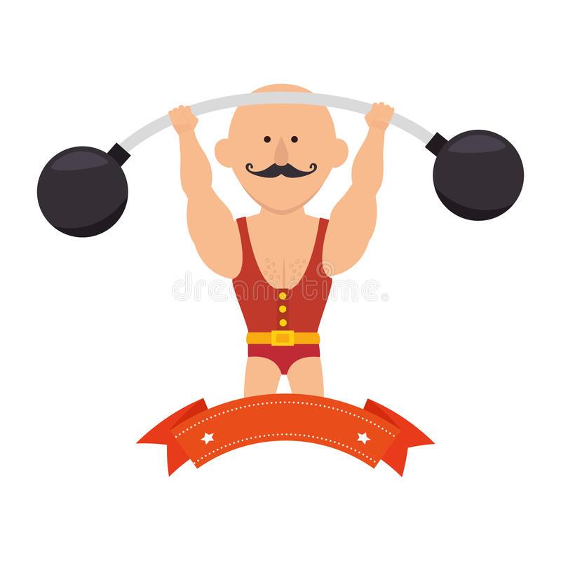 Circus Strongman Clipart.