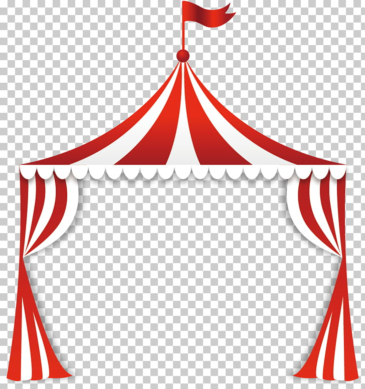Circus Tent , Circus tent, red and white tent illustration PNG.