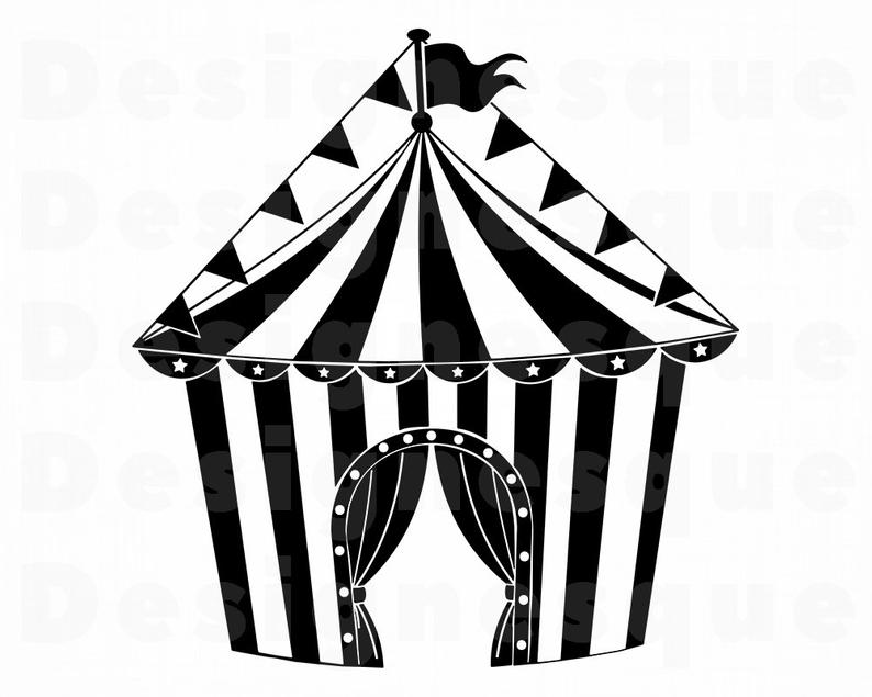 Circus Tent #4 SVG, Circus Tent Svg, Circus Tent Clipart, Circus Tent Files  for Cricut, Circus Tent Cut Files For Silhouette, Dxf, Png, Eps.
