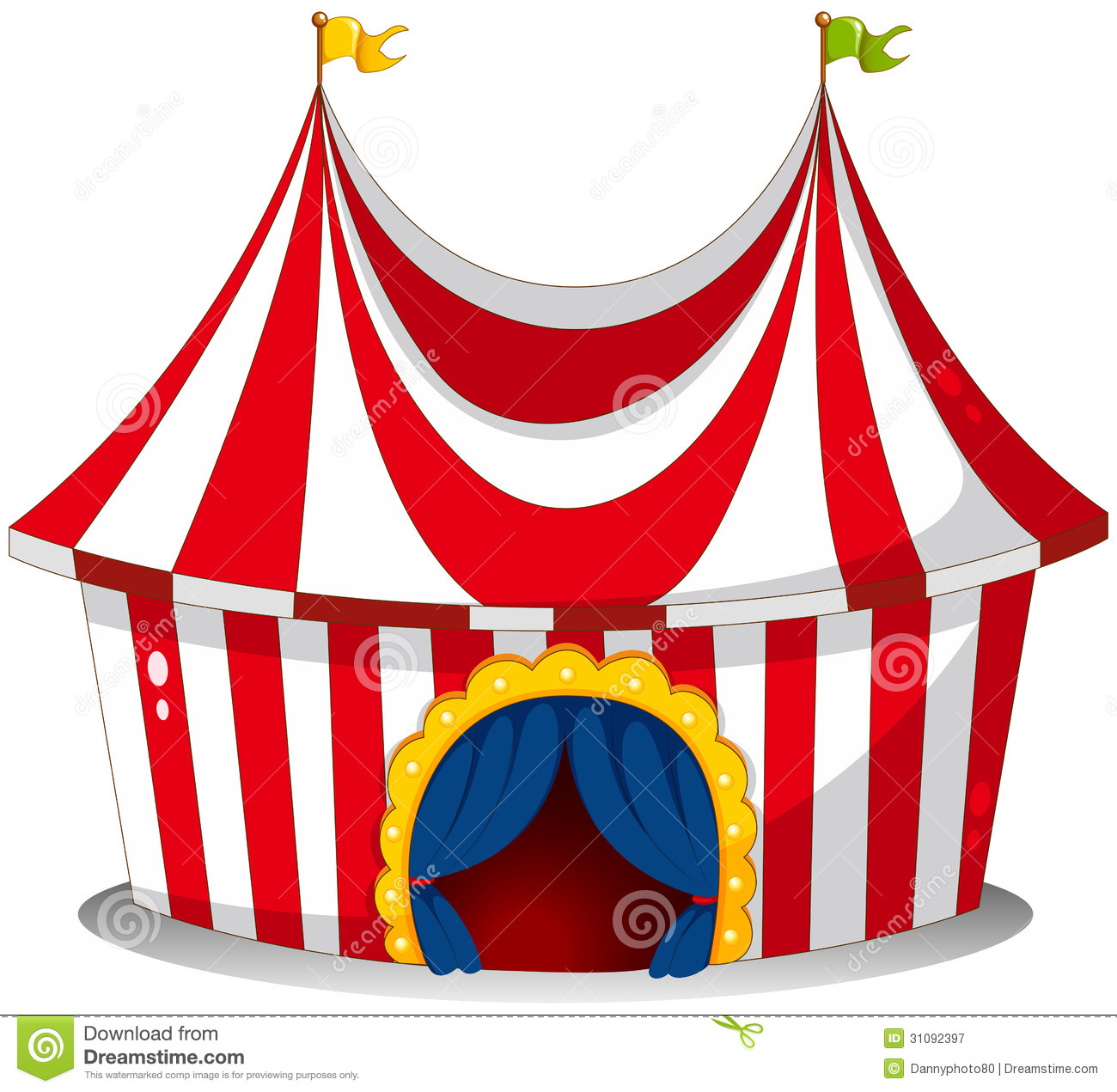 Collection of Circus tent clipart.
