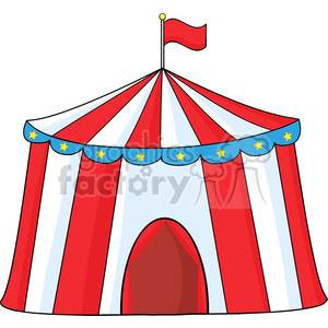 Royalty Free RF Clipart Illustration Big Circus Tent clipart. Royalty.